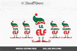 Elf Family Christmas SVG Set