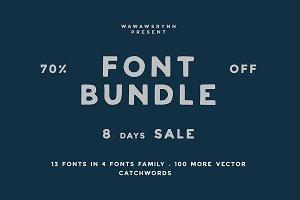 """Collection """"Font Bundle"""" 70% off"""