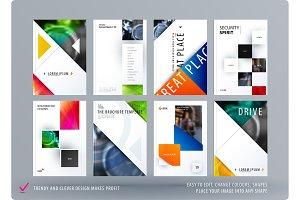 Brochure design triangular template
