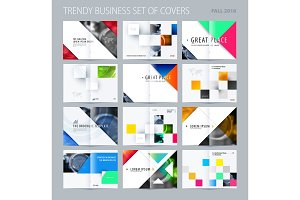 Abstract double-page brochure design