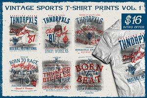 Vintage Sports T-Shirt Prints Vol. 1