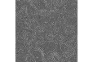 Seamless topographic map contour