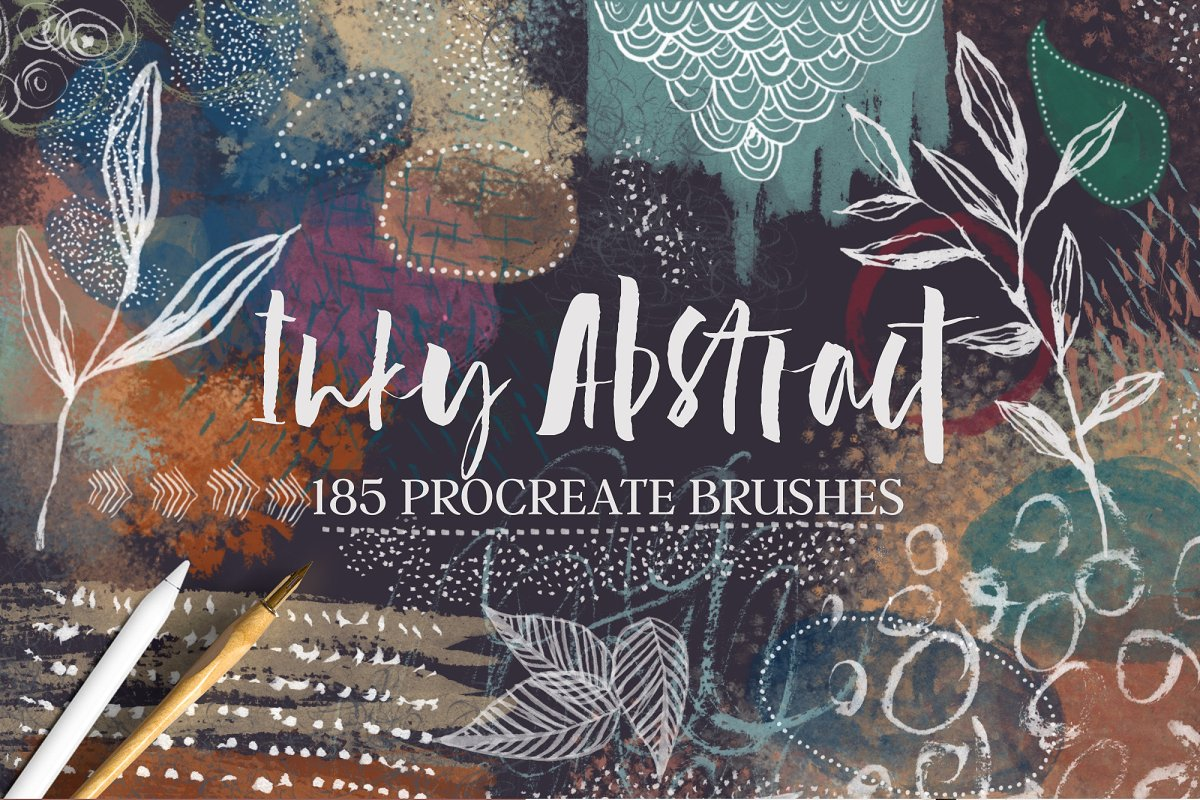 Inky Abstract Procreate Brushes ~ Procreate Brushes