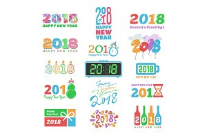 2018 New Year calendar Christmass