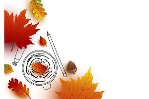 Autumn design with copy space
