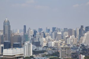 Blurred Cityscapes in Bangkok, Thail