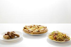 Pizza Spaghetti  Chicken Barbecue