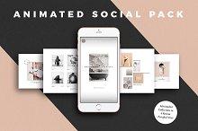 ANIMATED Minimalist Social Media Kit