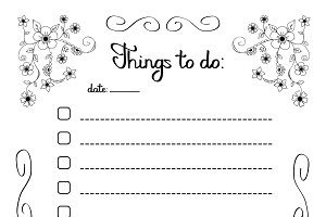 Hand writing Things to do list in a