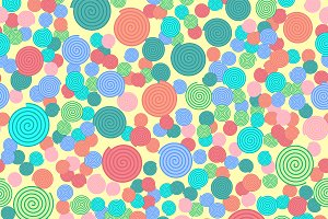 Seamless pattern with colorful simpl