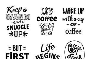 Cup Quote Emblem Set