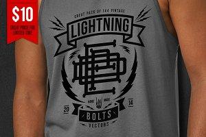 144 Vintage Lightning Bolts