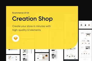 Creation Shop UI Kit 230 blocks
