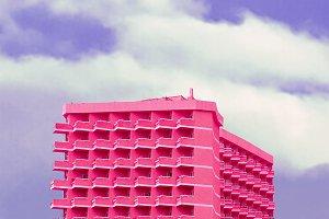Pink minimal dreams. Pink hotel art