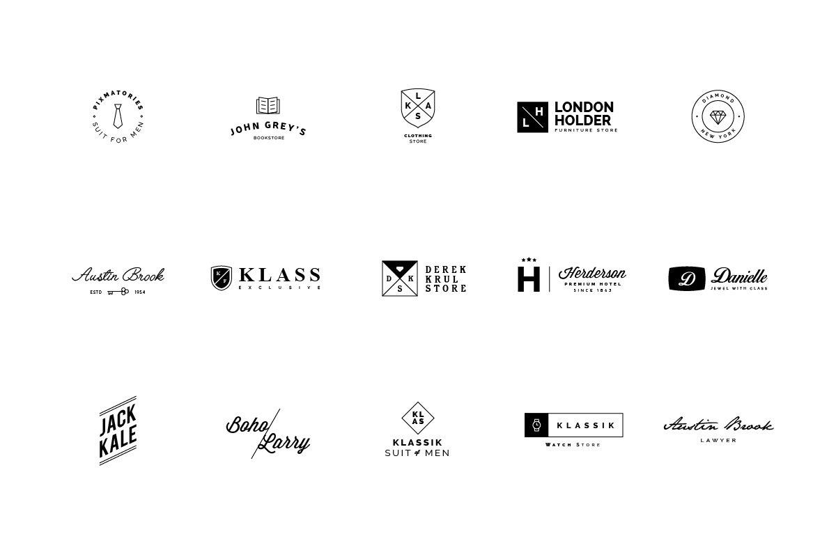 45 minimalist logos creative illustrator templates creative market 45 minimalist logos creative