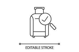 Baggage allowance linear icon