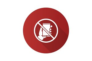 Forbidden sign with phone icon