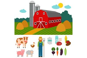 Farm vector illustration nature food