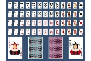 Poker set with isolated cards casino