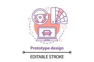 Prototype design concept icon