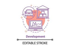Development concept icon