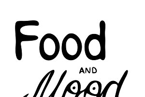 Food and mood. Black and white hand