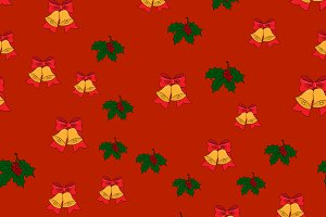 Christmas seamless pattern with jing