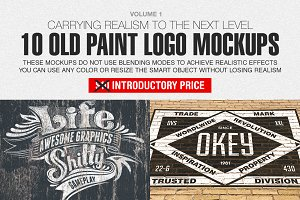 Old Paint Logo Mockups Vol. 1