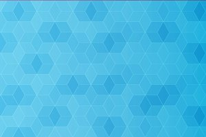 Abstract polygon template, blue colo