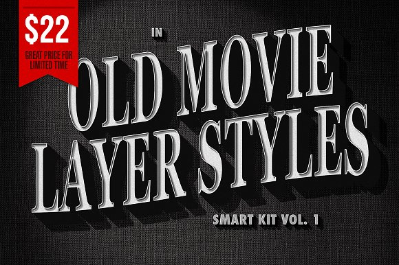 Old Movie Titles - Smart Kit Vol. 1 - Layer Styles
