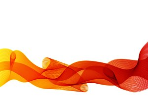 Curve orange lines, abstract backgro
