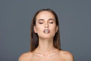 girl with glamorous makeup