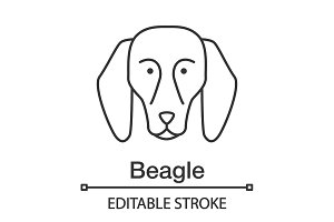 Beagle linear icon