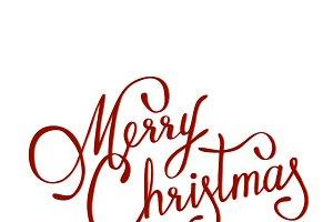 Merry christmas lettering, raster. R