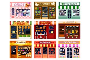 Shop window vector showwindow of
