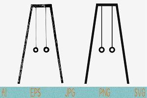 gymnastic rings, set vector svg png