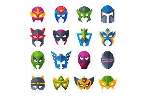 Hero mask vector superhero face