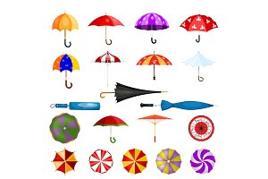 Umbrella vector umbrella-shaped