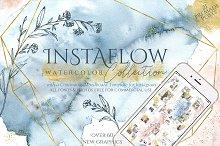 Instaflow Watercolors & Template