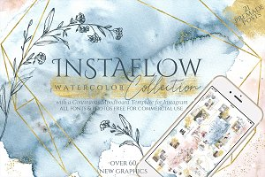 Instaflow Watercolors & Template