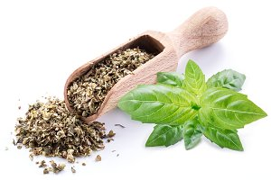 Balis herbs. Isolated on a white bac