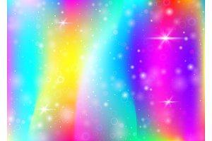 Unicorn background with rainbow mesh