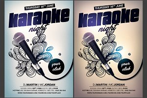 Karaoke Night Flyer Template