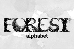 FOREST alphabet   VECTOR