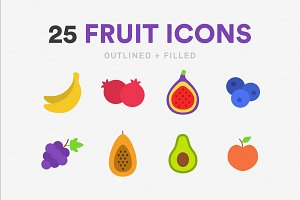 25 Fruit Icons