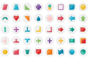 111 Shapes Flat Icon Set