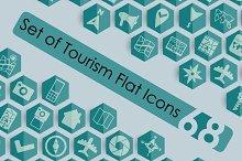 68 Tourism Flat Icons