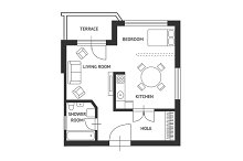 Vector.Architect plan with furniture