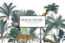 Royal Palms - Luxury Print
