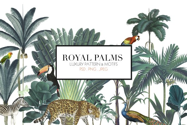 Royal Palms - Luxury Print